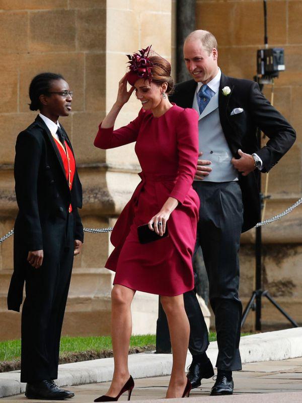 Кейт Миддлтон и принц Уильям на свадьбе принцессы Евгении (ФОТО)