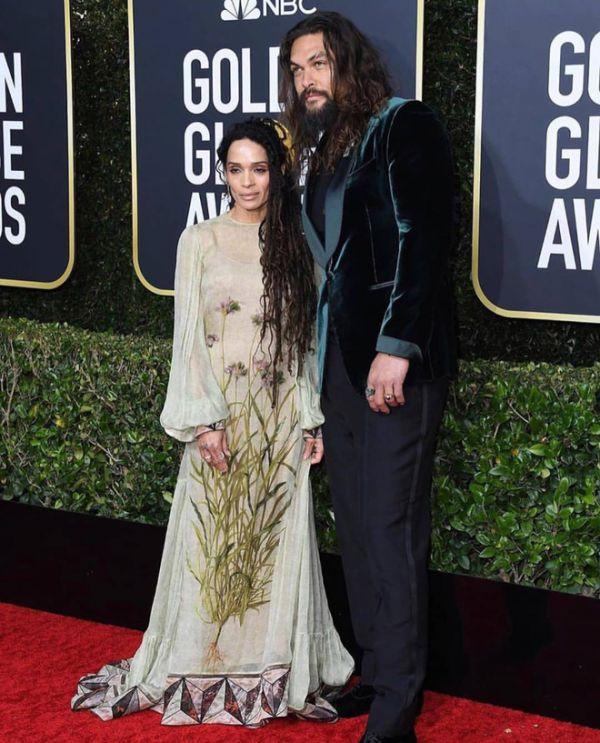 Самая яркая пара: Джейсон Момоа и Лиза Боне на «Золотом Глобусе» (ФОТО)